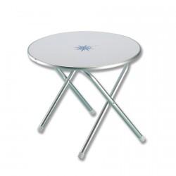 Tavolinetto tondo pieghevole con decoro marino